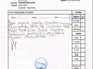 2013.10.27 Mladenovac II.országos (Szerb)sarplaninac Bajnokság Bajnoka-bírálati Lap