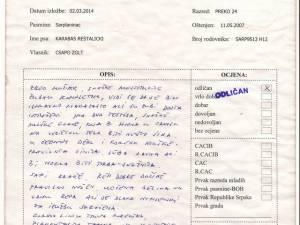 2014.03.02. Banja Luka Bírálati Lap